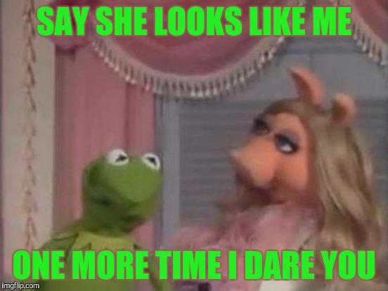 SAY SHE LOOKS LIKE ME ONE MORE TIME I DARE YOU | made w/ Imgflip meme maker