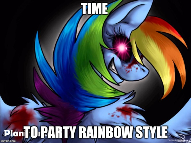 rainbow factory dashie | TIME TO PARTY RAINBOW STYLE | image tagged in rainbow factory dashie | made w/ Imgflip meme maker