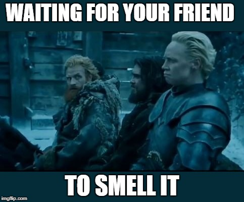 WAITING FOR YOUR FRIEND TO SMELL IT | image tagged in farted | made w/ Imgflip meme maker