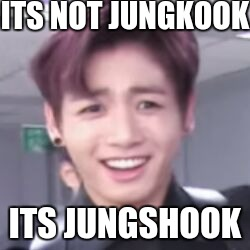 ITS NOT JUNGKOOK ITS JUNGSHOOK | image tagged in bts | made w/ Imgflip meme maker