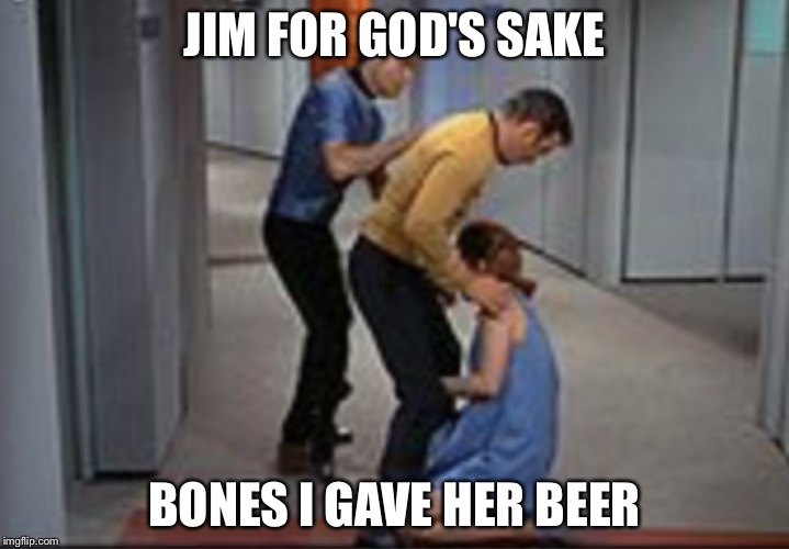 Job promotion | JIM FOR GOD'S SAKE BONES I GAVE HER BEER | image tagged in job promotion | made w/ Imgflip meme maker