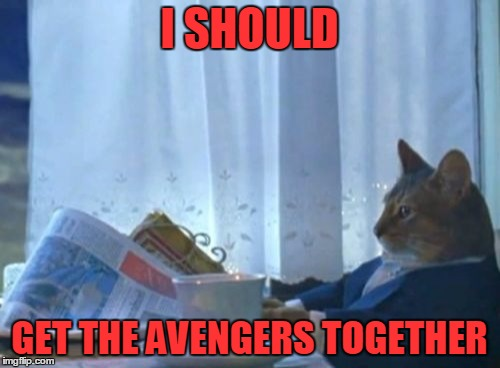 I SHOULD GET THE AVENGERS TOGETHER | made w/ Imgflip meme maker