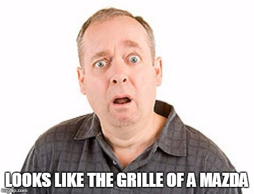 LOOKS LIKE THE GRILLE OF A MAZDA | made w/ Imgflip meme maker