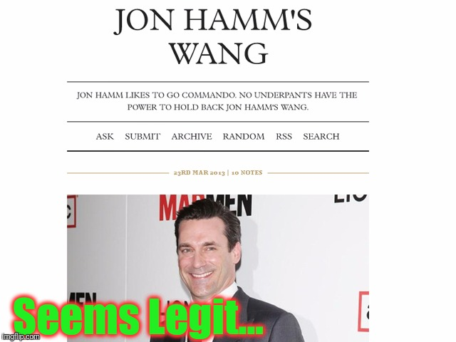 Decided I need my own webpage... | Seems Legit... | image tagged in jon hamm's hog,deep web,welcome to the internets,seems legit,funny,memes | made w/ Imgflip meme maker