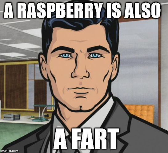 Archer Meme | A RASPBERRY IS ALSO A FART | image tagged in memes,archer | made w/ Imgflip meme maker