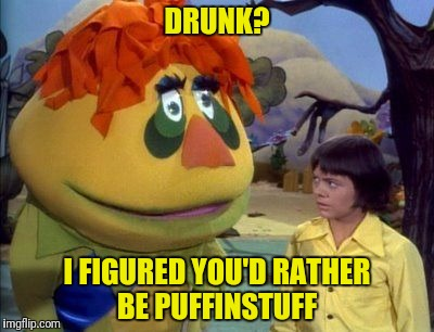 DRUNK? I FIGURED YOU'D RATHER BE PUFFINSTUFF | made w/ Imgflip meme maker