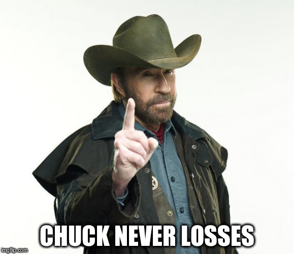 CHUCK NEVER LOSSES | made w/ Imgflip meme maker