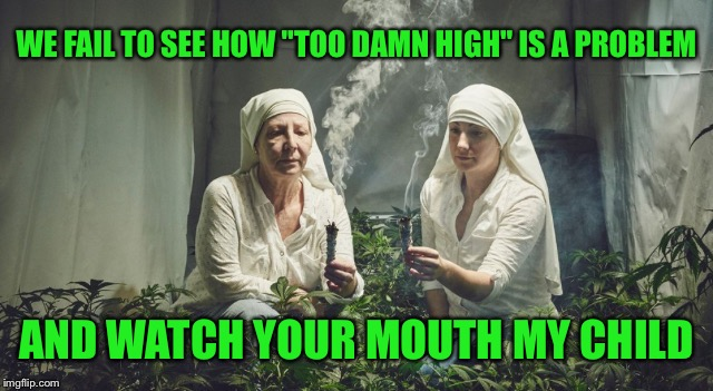 "WE FAIL TO SEE HOW ""TOO DAMN HIGH"" IS A PROBLEM AND WATCH YOUR MOUTH MY CHILD 