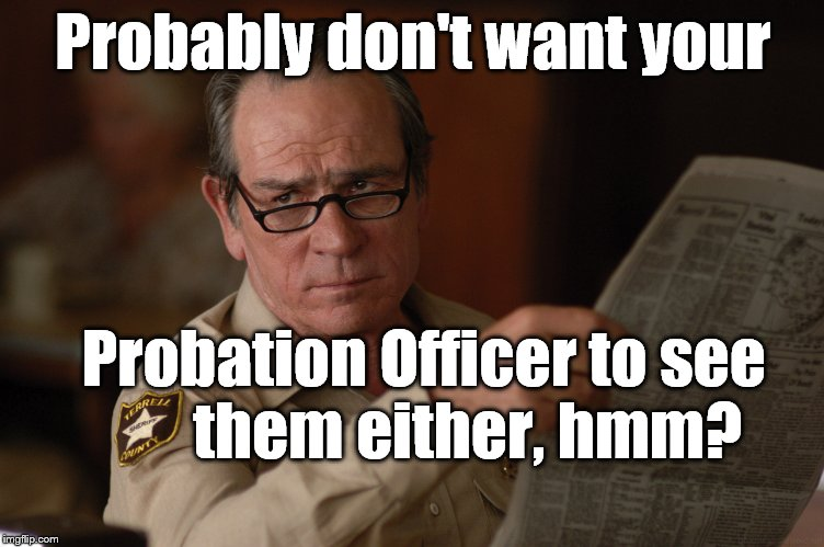 say what? | Probably don't want your Probation Officer to see       them either, hmm? | image tagged in say what | made w/ Imgflip meme maker