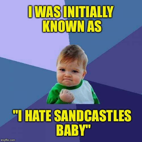 "Success Kid Meme | I WAS INITIALLY KNOWN AS ""I HATE SANDCASTLES BABY"" 