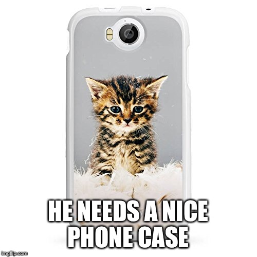 HE NEEDS A NICE PHONE CASE | made w/ Imgflip meme maker