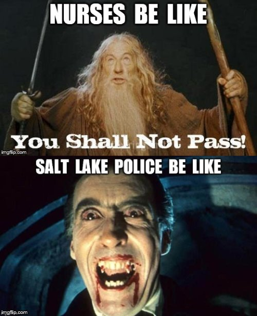 Alex Wubbels stands up to Salt Lake Police | image tagged in alex wubbels,salt lake police,nurses | made w/ Imgflip meme maker
