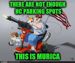 THERE ARE NOT ENOUGH HC PARKING SPOTS THIS IS MURICA | made w/ Imgflip meme maker