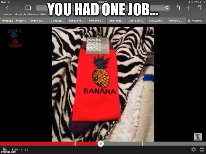 YOU HAD ONE JOB... | image tagged in you had one job,wtf,stupid people | made w/ Imgflip meme maker