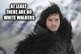 AT LEAST THERE ARE NO WHITE WALKERS | made w/ Imgflip meme maker