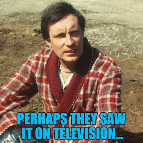 PERHAPS THEY SAW IT ON TELEVISION... | made w/ Imgflip meme maker