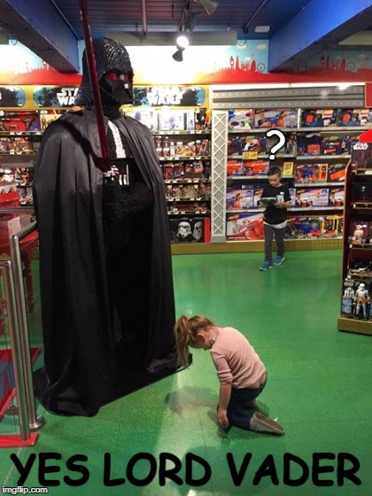 ? YES LORD VADER | image tagged in funny,darth vader,star wars,kids,toys | made w/ Imgflip meme maker