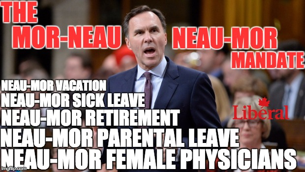 Impact of Liberal Tax Proposals | THE MOR-NEAU NEAU-MOR MANDATE NEAU-MOR VACATION NEAU-MOR SICK LEAVE NEAU-MOR RETIREMENT NEAU-MOR PARENTAL LEAVE NEAU-MOR FEMALE PHYSICIANS | image tagged in fairness | made w/ Imgflip meme maker