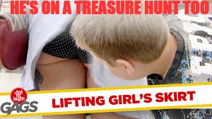 HE'S ON A TREASURE HUNT TOO | image tagged in memes,funny,hot girl,wtf | made w/ Imgflip meme maker