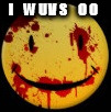 Bloody Emoji Says I Wuvs OO | I     W U V S     O O | image tagged in bloody emoji,wuv,love,luv | made w/ Imgflip meme maker
