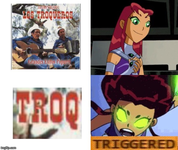 Triggered | image tagged in teen titans,starfire,cartoon network,triggered | made w/ Imgflip meme maker