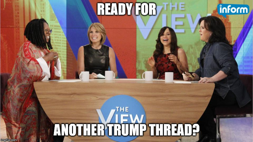 READY FOR ANOTHER TRUMP THREAD? | image tagged in the view | made w/ Imgflip meme maker