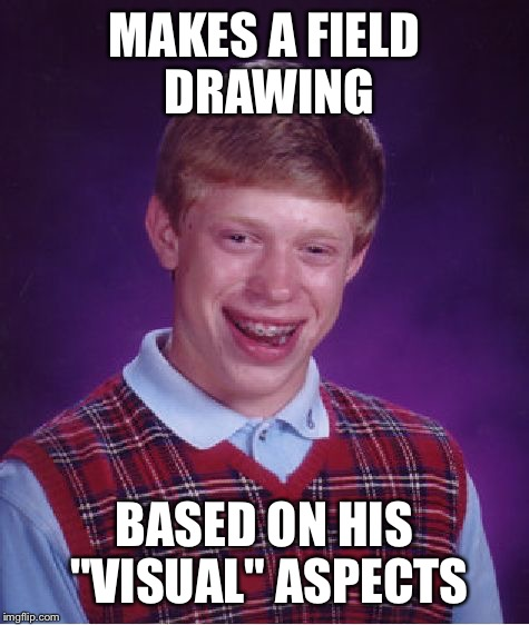 "Everyone knows it comes from the brain | MAKES A FIELD DRAWING BASED ON HIS ""VISUAL"" ASPECTS 