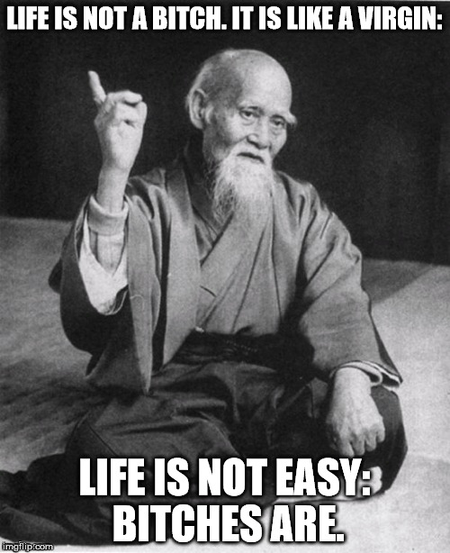LIFE IS NOT A B**CH. IT IS LIKE A VIRGIN: LIFE IS NOT EASY: B**CHES ARE. | made w/ Imgflip meme maker