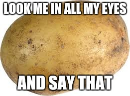 Memes | LOOK ME IN ALL MY EYES AND SAY THAT | image tagged in memes | made w/ Imgflip meme maker