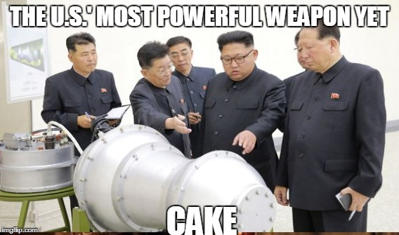 Lil Kim | THE U.S.' MOST POWERFUL WEAPON YET CAKE | image tagged in north korea,kim jong un,cake | made w/ Imgflip meme maker
