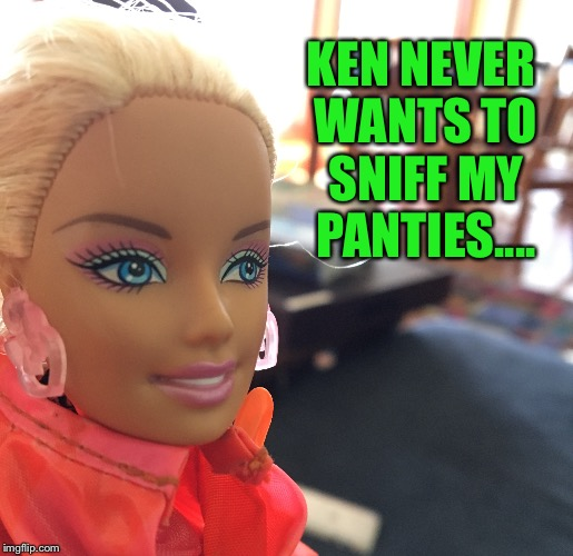 KEN NEVER WANTS TO SNIFF MY PANTIES.... | made w/ Imgflip meme maker