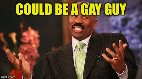 Steve Harvey Meme | COULD BE A GAY GUY | image tagged in memes,steve harvey | made w/ Imgflip meme maker
