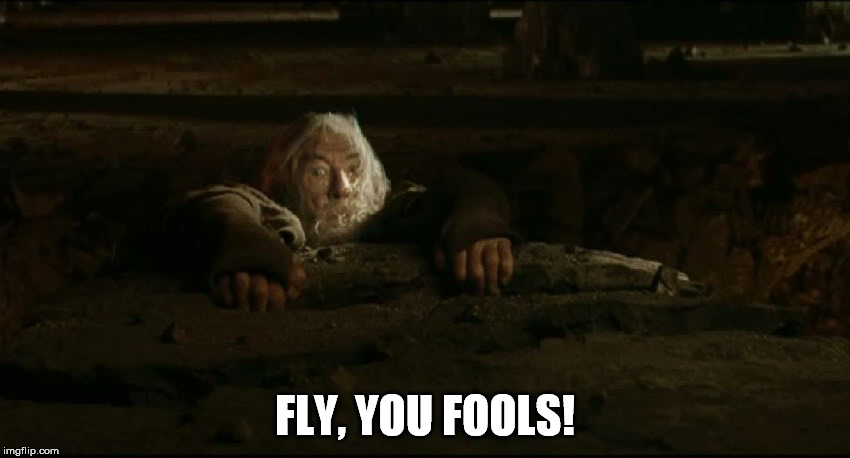 FLY, YOU FOOLS! | made w/ Imgflip meme maker