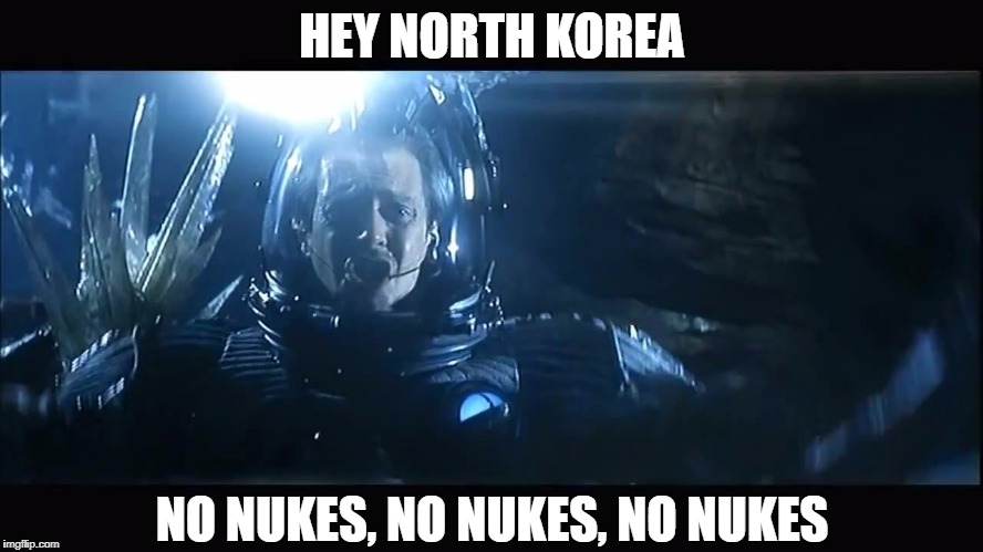 No nukes | HEY NORTH KOREA NO NUKES, NO NUKES, NO NUKES | image tagged in no,nukes | made w/ Imgflip meme maker