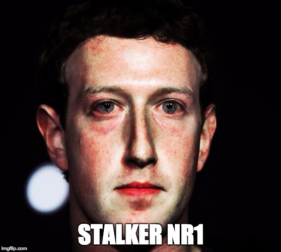 STALKER NR1 | image tagged in fuckface zuckerberg | made w/ Imgflip meme maker
