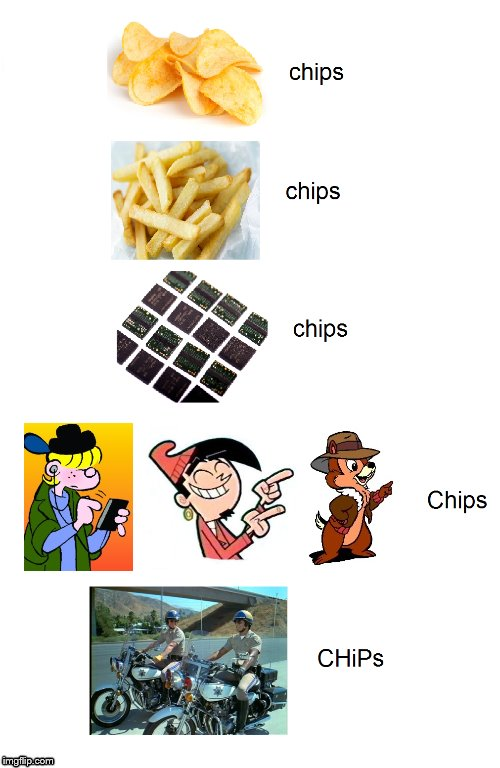 "I thought I'd ""chip"" in this meme. 