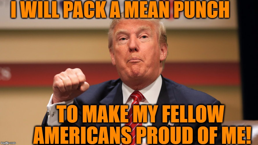 I WILL PACK A MEAN PUNCH TO MAKE MY FELLOW AMERICANS PROUD OF ME! | made w/ Imgflip meme maker