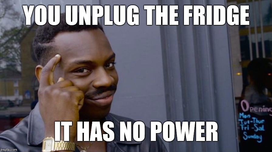 Memes, Eddie Murphy | YOU UNPLUG THE FRIDGE IT HAS NO POWER | image tagged in memes,eddie murphy | made w/ Imgflip meme maker