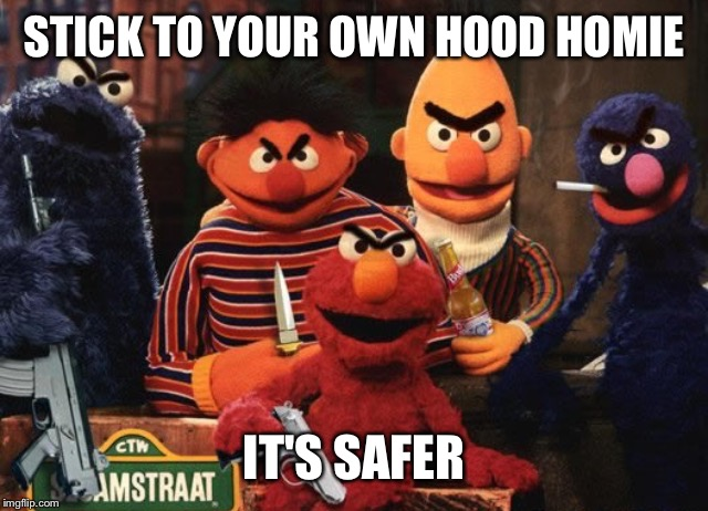 STICK TO YOUR OWN HOOD HOMIE IT'S SAFER | made w/ Imgflip meme maker