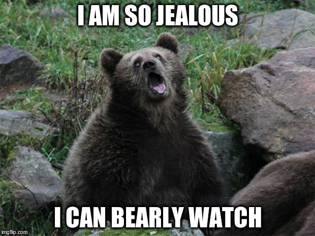 I AM SO JEALOUS I CAN BEARLY WATCH | made w/ Imgflip meme maker