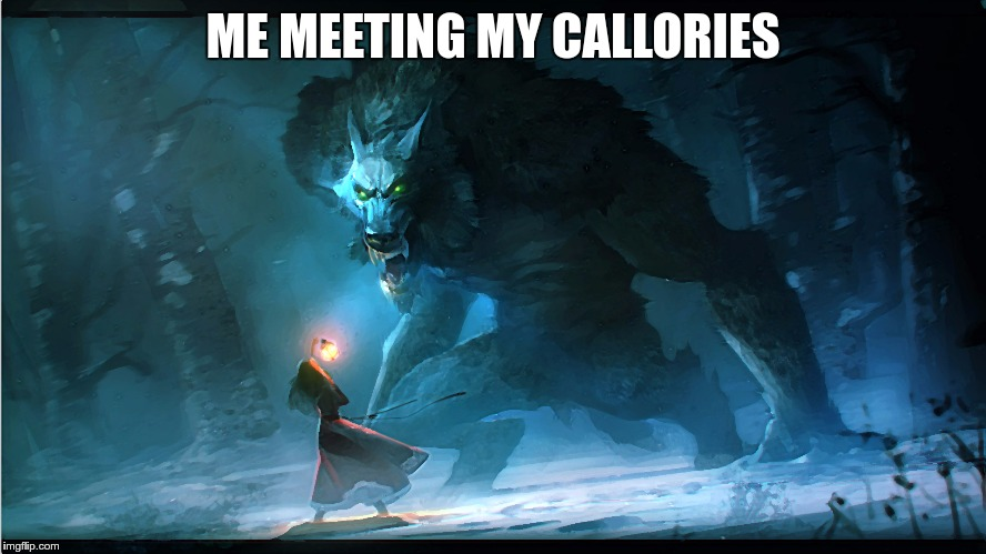 ME MEETING MY CALLORIES | made w/ Imgflip meme maker