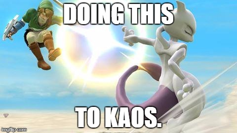 Skylanders Week Day 3. | DOING THIS TO KAOS. | image tagged in smash bros mewtwo | made w/ Imgflip meme maker