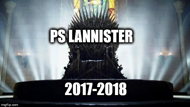 Iron Throne | PS LANNISTER 2017-2018 | image tagged in iron throne | made w/ Imgflip meme maker
