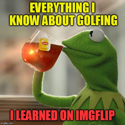 But Thats None Of My Business Meme | EVERYTHING I KNOW ABOUT GOLFING I LEARNED ON IMGFLIP | image tagged in memes,but thats none of my business,kermit the frog | made w/ Imgflip meme maker