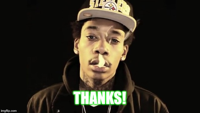 THANKS! | image tagged in stoner wiz | made w/ Imgflip meme maker