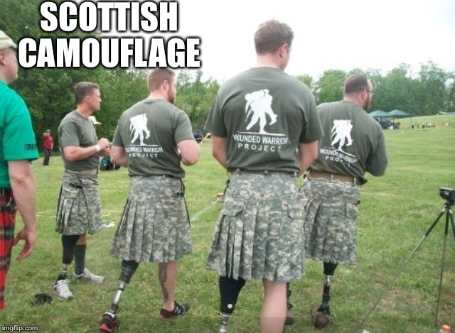 SCOTTISH CAMOUFLAGE | made w/ Imgflip meme maker