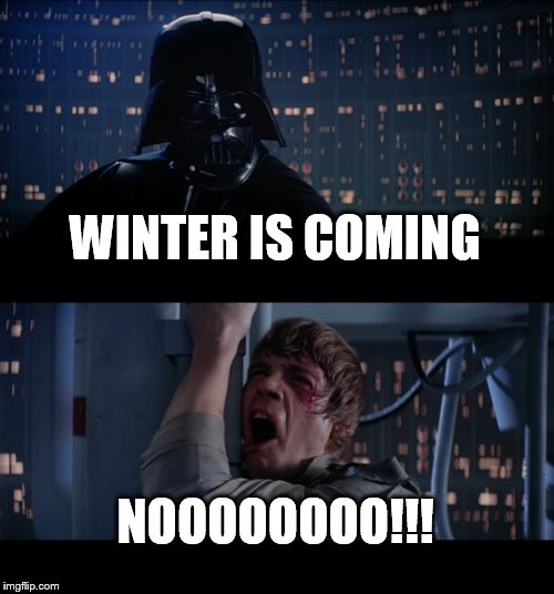 Star Wars No Meme | WINTER IS COMING NOOOOOOOO!!! | image tagged in memes,star wars no | made w/ Imgflip meme maker