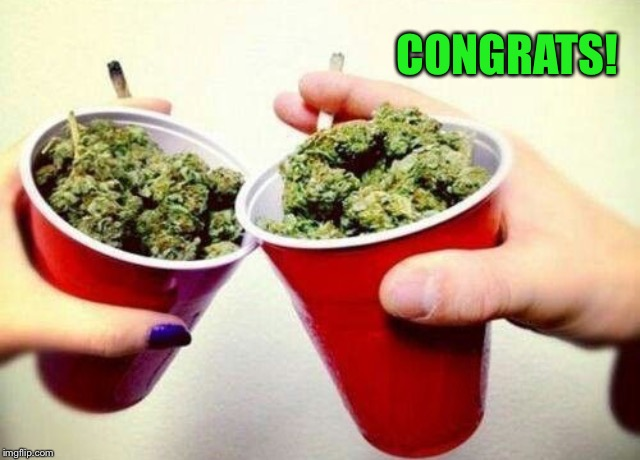 Stoner cheers  | CONGRATS! | image tagged in stoner cheers | made w/ Imgflip meme maker