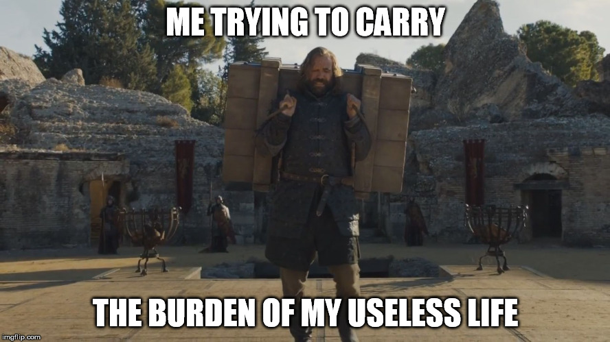 ME TRYING TO CARRY THE BURDEN OF MY USELESS LIFE | image tagged in me trying to carry | made w/ Imgflip meme maker