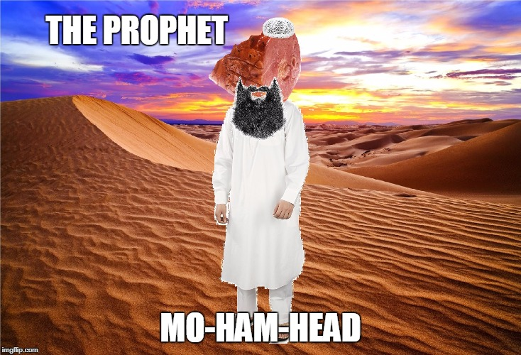 In support of all artist, and the freedom of speech. | THE PROPHET MO-HAM-HEAD | image tagged in mo ham head,memes,holy war batman,cartoon,competition,pork | made w/ Imgflip meme maker